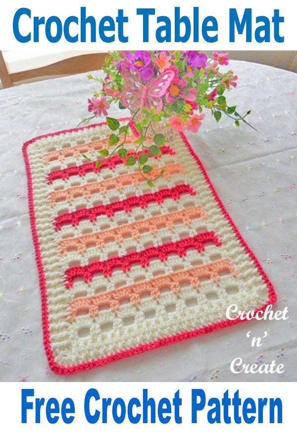 Free crochet pattern-table mat uk