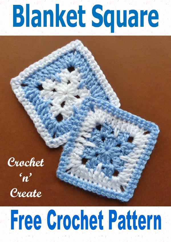Free crochet pattern blanket square