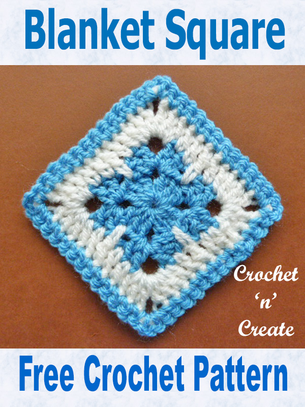 Free crochet pattern blanket square uk