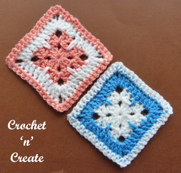 Free crochet pattern-blanket square uk