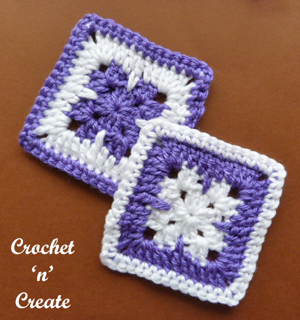 Free crochet pattern-blanket square