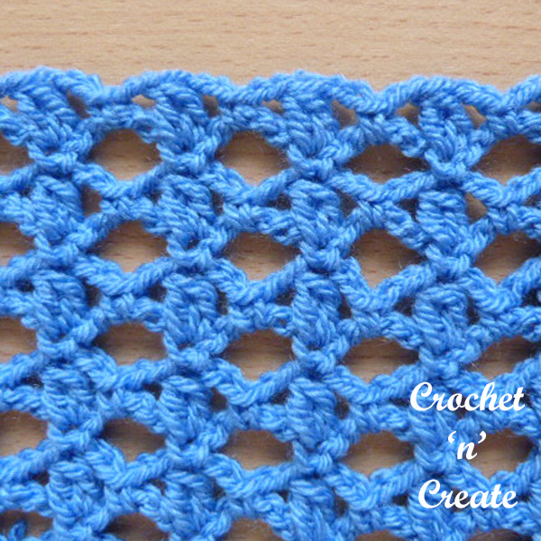 Free crochet stitch tutorial-lace cluster