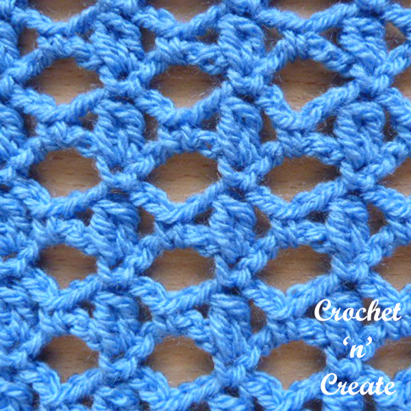 crochet cluster and lace