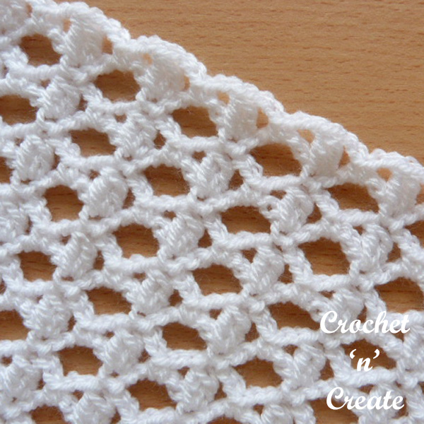cluster and lace stitch white