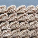 Free crochet stitch tutorial-combo peaks
