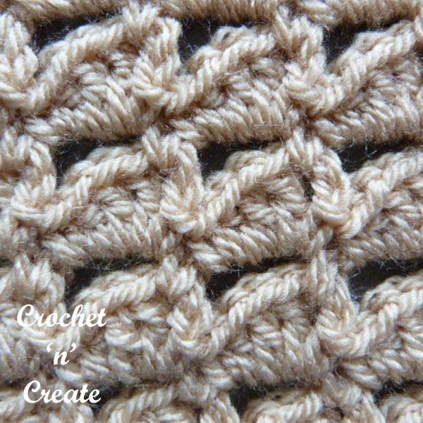crochet combo peaks stitch tutorial