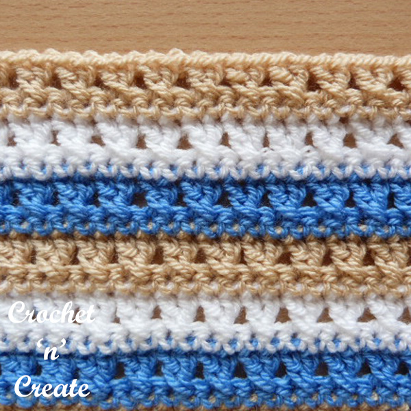 Free crochet stitch tutorial-cross stitch