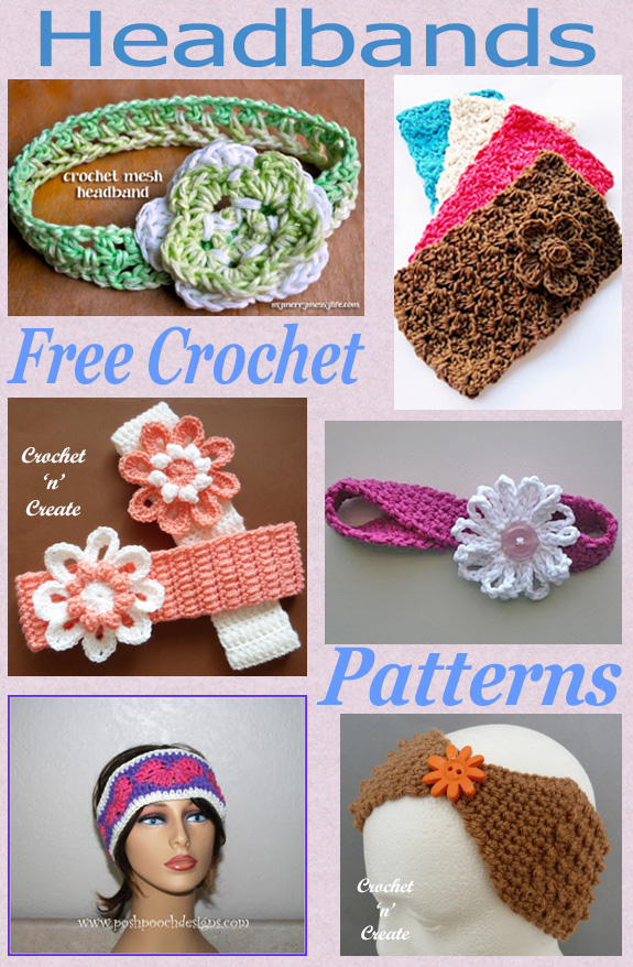 Free crochet pattern roundup-headbands