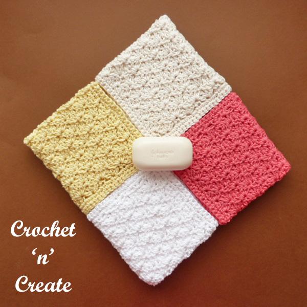 Free crochet pattern shell washcloth UK