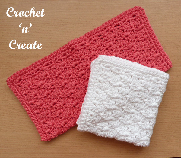 shell washcloth UK free crochet pattern