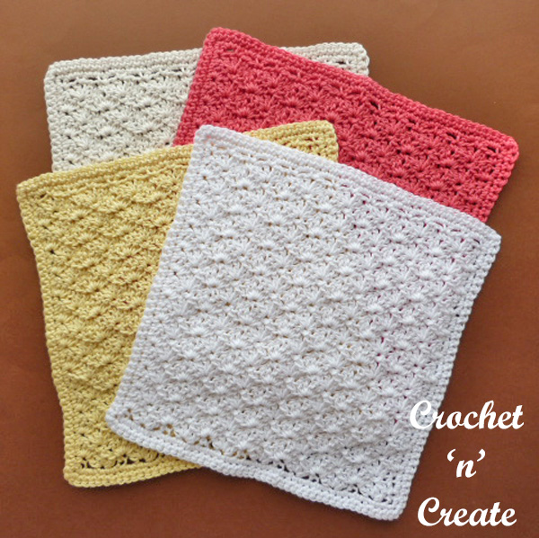 crochet shell washcloth UK