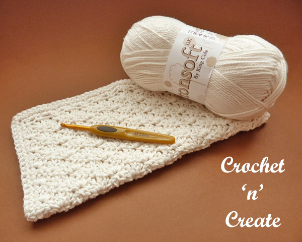 crochet shell washcloth