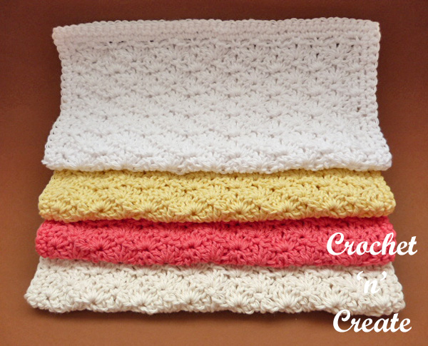 shell washcloth free crochet pattern