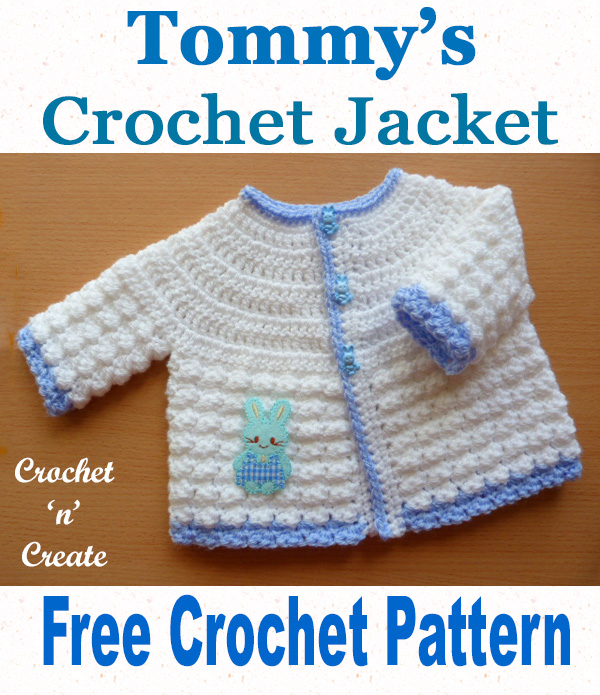 Free baby crochet pattern-tommys jacket uk