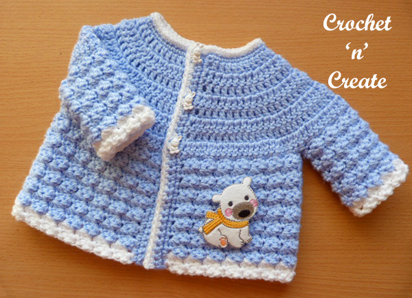 Free baby crochet pattern-tommys jacket