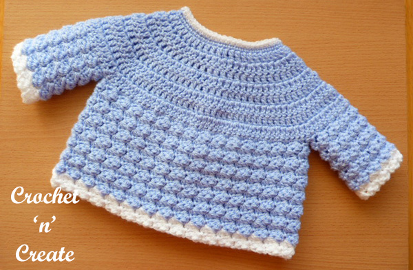 tommys jacket free baby crochet pattern back