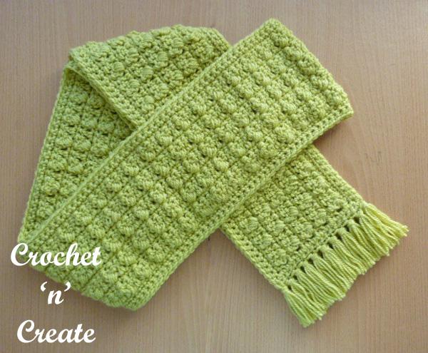 Free crochet pattern-winter warmer scarf uk