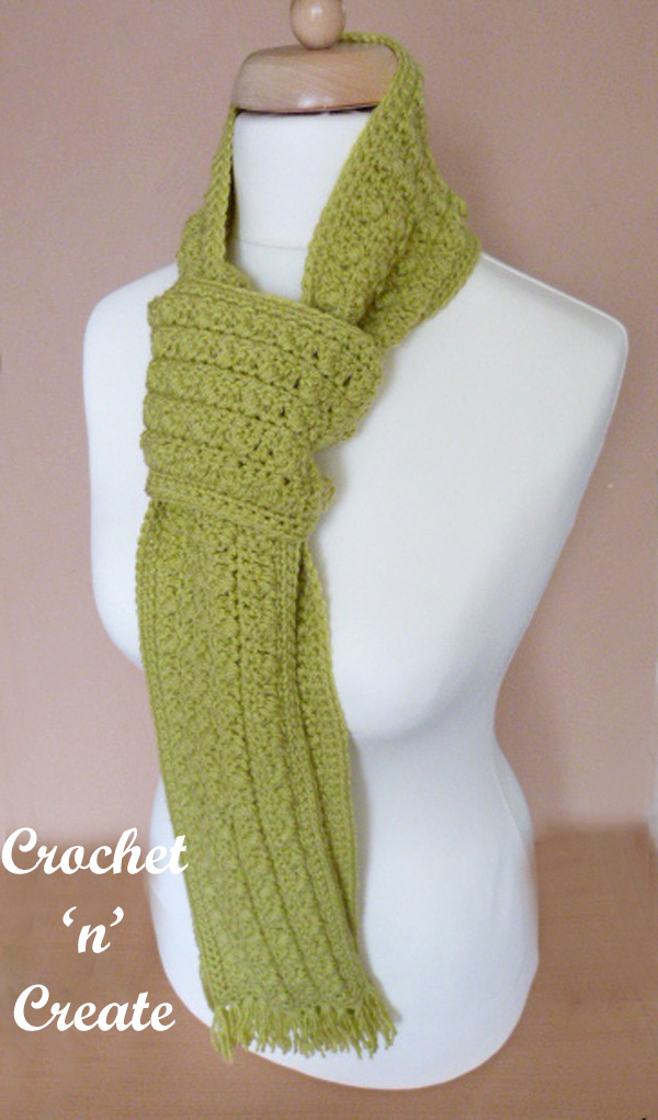 winter warmer scarf uk free crochet pattern