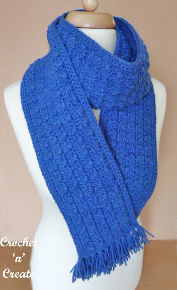 winter warmer scarf free crochet pattern
