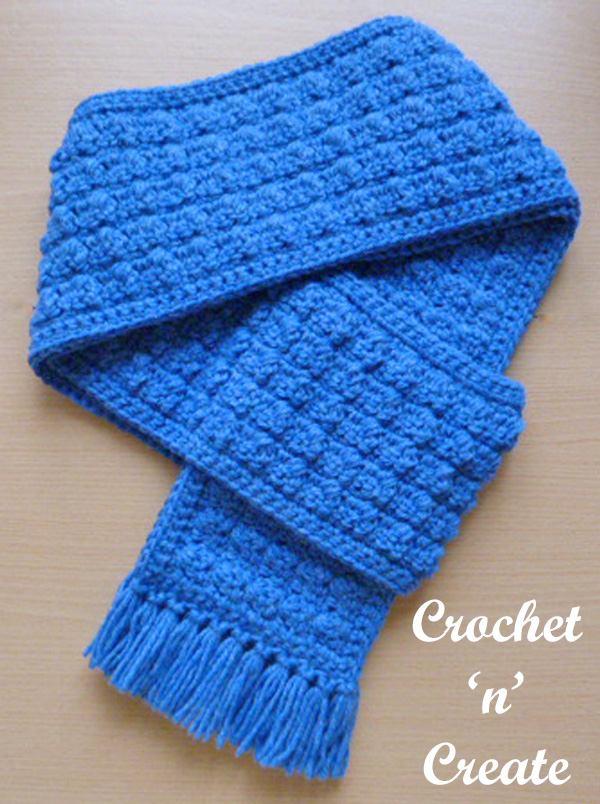 Free winter warmer scarf crochet pattern
