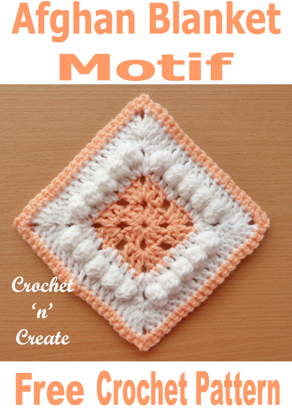 Free crochet pattern afghan square motif