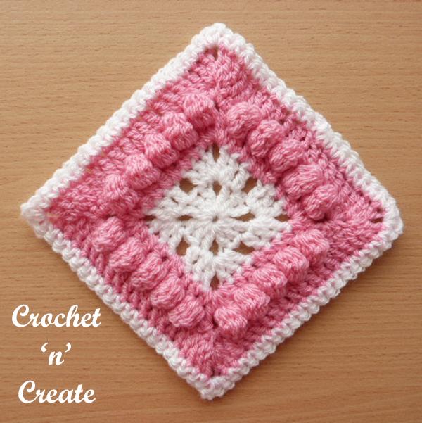 Free crochet pattern afghan blanket motif UK format