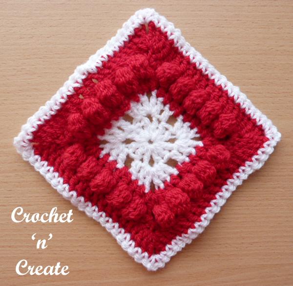 free crochet afghan blanket motif UK format