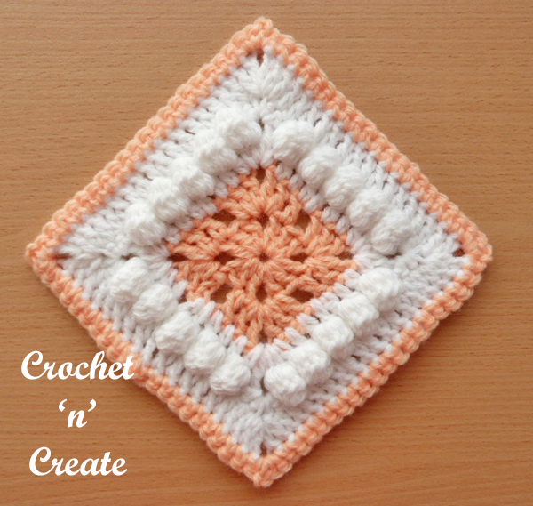 Free crochet pattern afghan blanket motif