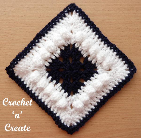 Free afghan blanket motif crochet pattern