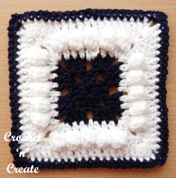 afghan blanket motif free crochet pattern