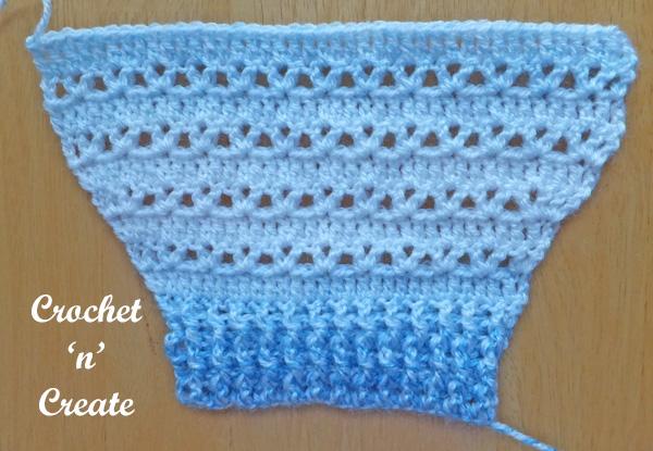 baby button cardigan sleeve UK free crochet pattern