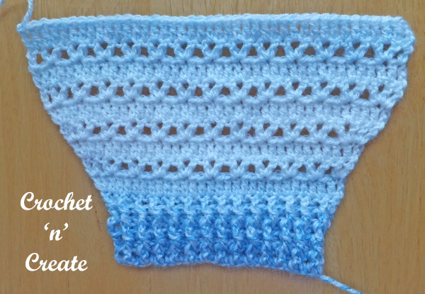 Baby button through cardigan sleeve free crochet pattern