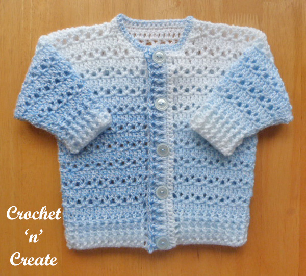 Free button through cardigan baby pattern