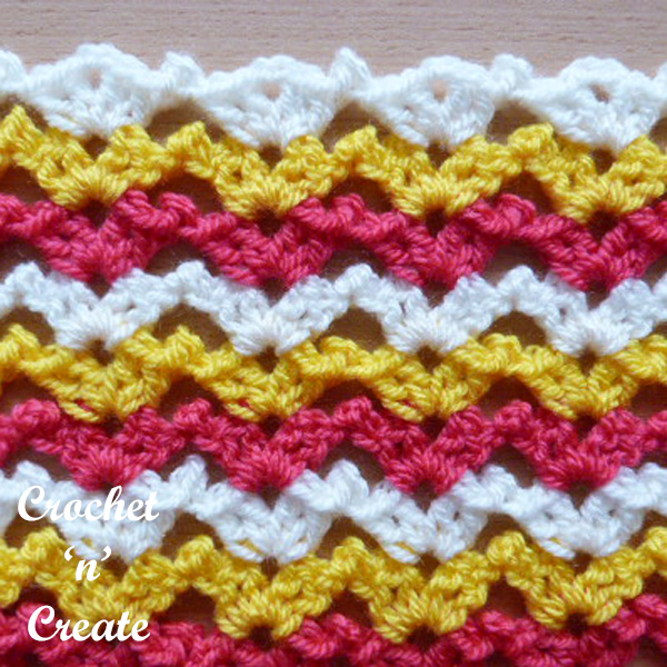 Free crochet stitch tutorial chirpy picots
