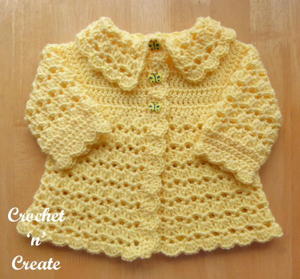 free crochet collared coat pattern