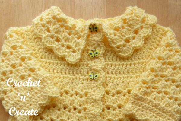 free collared coat crochet pattern