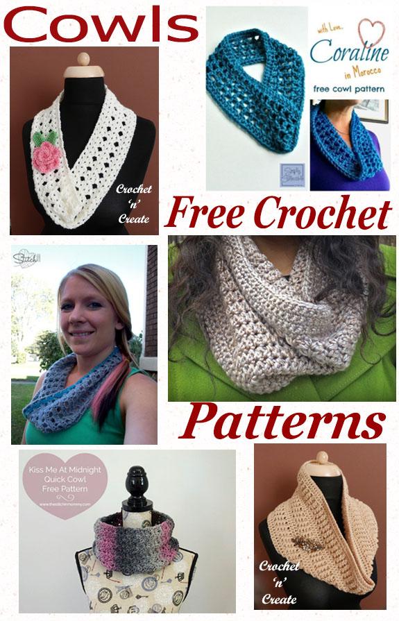 Free crochet pattern roundup-cowls