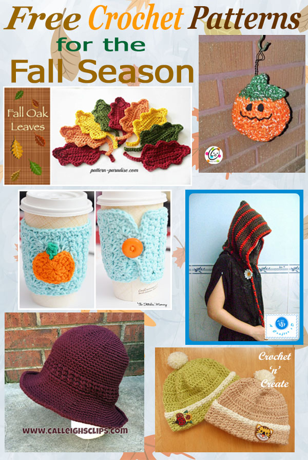 Free crochet pattern roundup-fall season