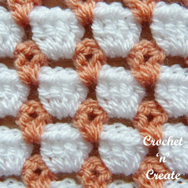 Free crochet floating boxes stitch tutorial