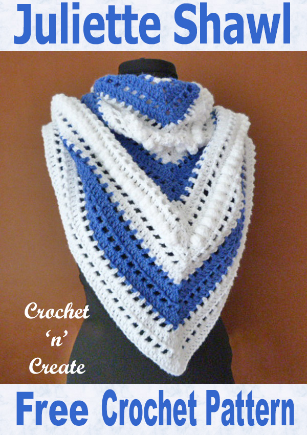 Free crochet pattern-juliette shawl
