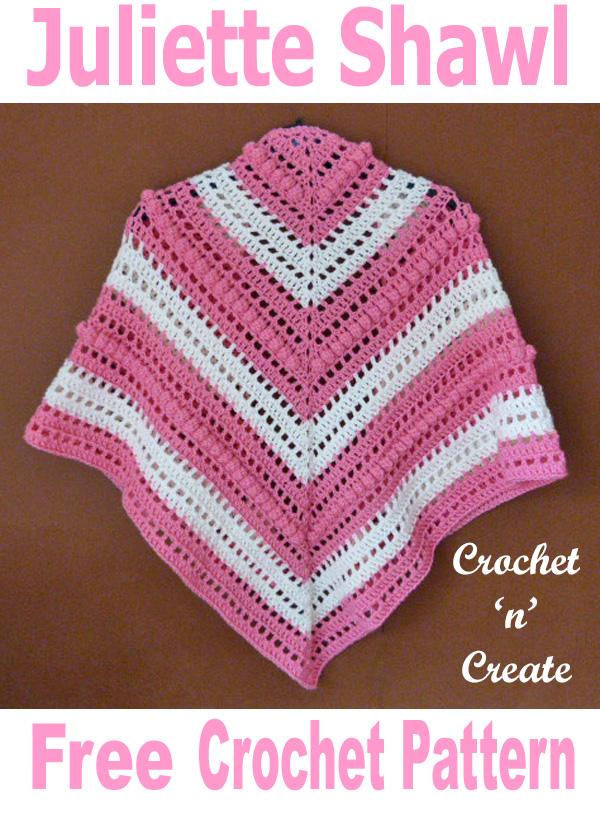Free crochet pattern juliette shawl UK