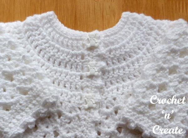 Free picot edge cardigan baby pattern yoke