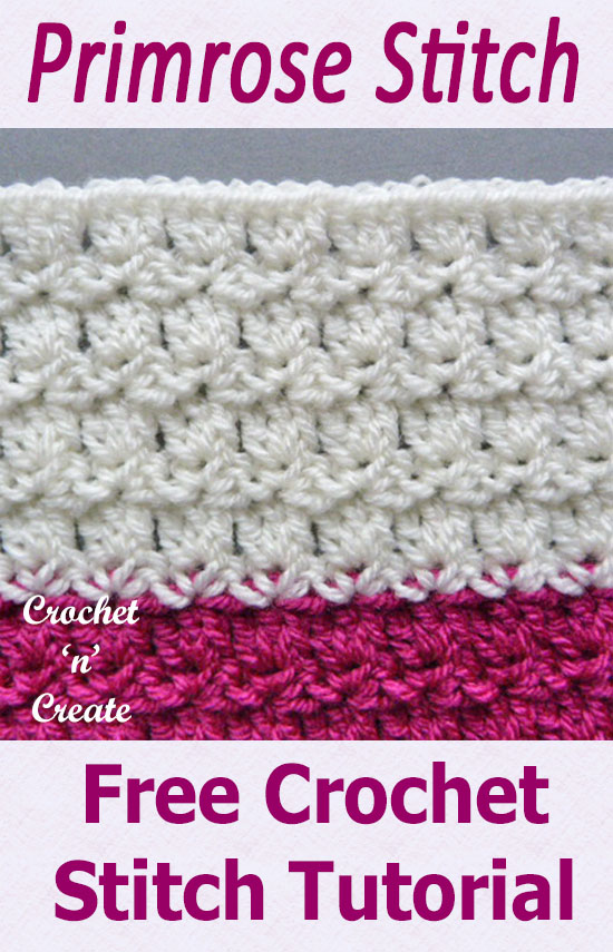 Free crochet tutorial-primrose stitch