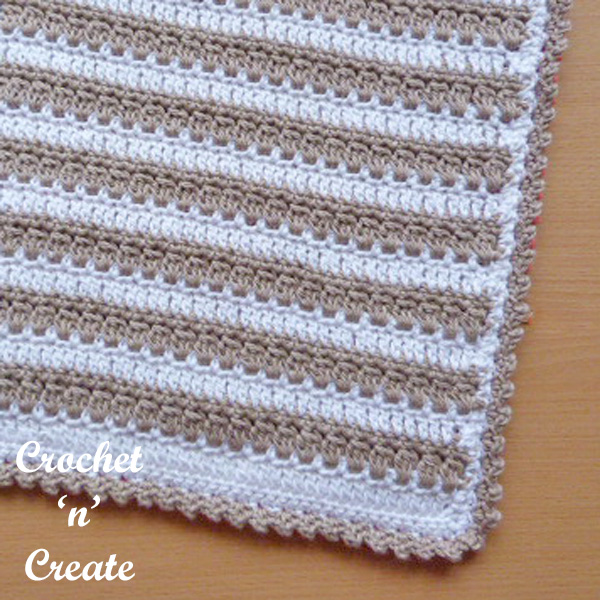 square hot pad UK free crochet pattern