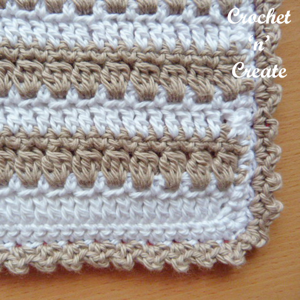 Free crochet square hot pad UK pattern