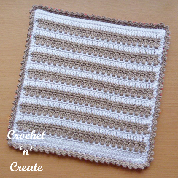 Free crochet pattern-square hot pad UK