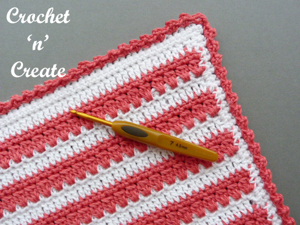 Free crochet pattern-square hot pad