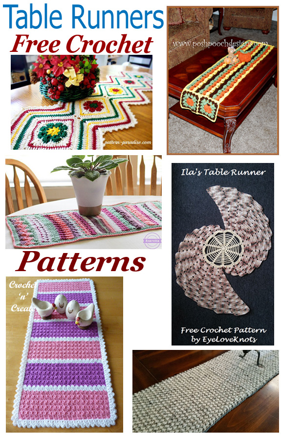 Free crochet pattern roundup table runners
