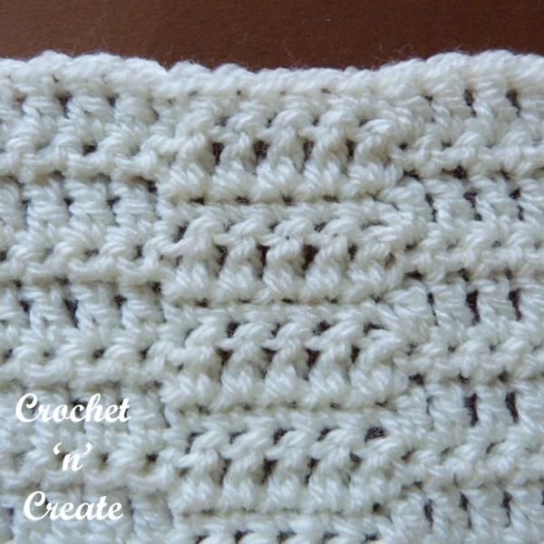 Free crochet wave stitch tutorial