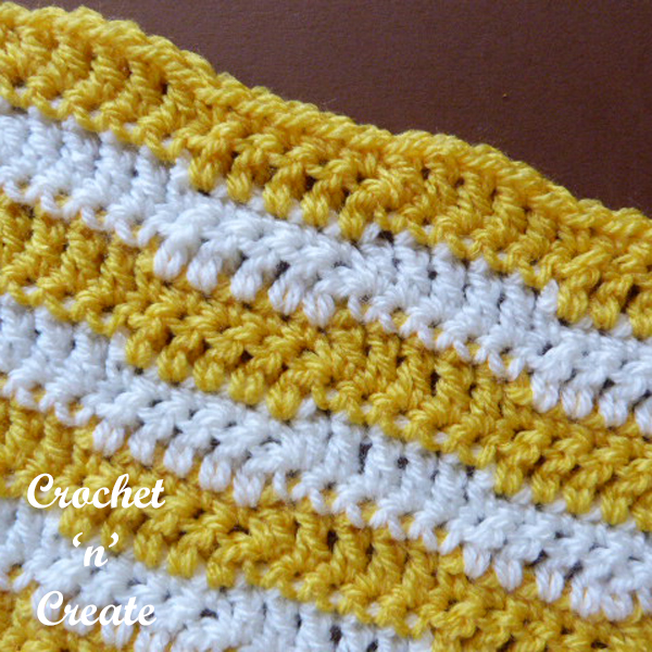 Two color wave stitch crochet tutorial
